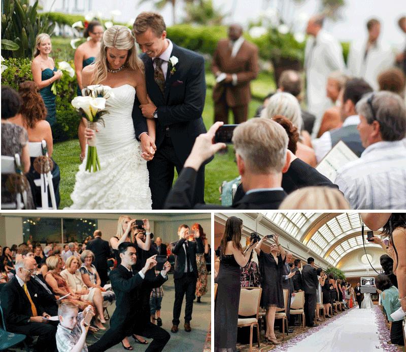 Volete veramente rovinare una cerimonia con i vostri cellulari? Lezione #1 di Wedding Etiquette.